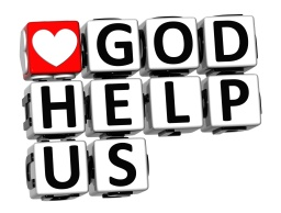 3D God Help Us Button Click Here Block Text