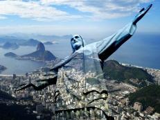 Le Christ du Corcovado et la Baie de Rio