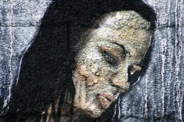 maladie de peau,visage,peinture