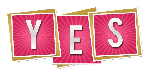 Yes Pink Squares Burst